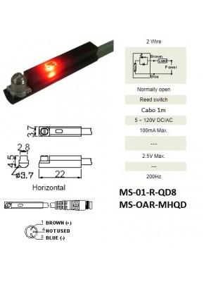 Sensor Magnético MS-01-R-QD8