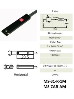 Sensor Magnético MS-31-R-1M