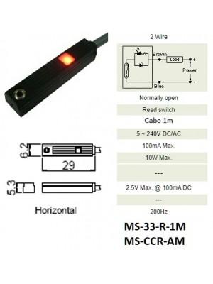 Sensor Magnético MS-33-R-1M