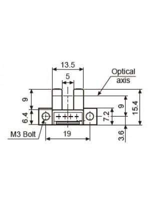 Sensor fotoelétrico, micro U-shape, MS-BS5-L2M COM CABO/CONECTOR
