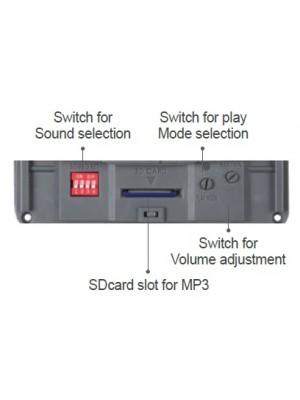 Anunciador MS-QMPS-12~24V - 30 SONS