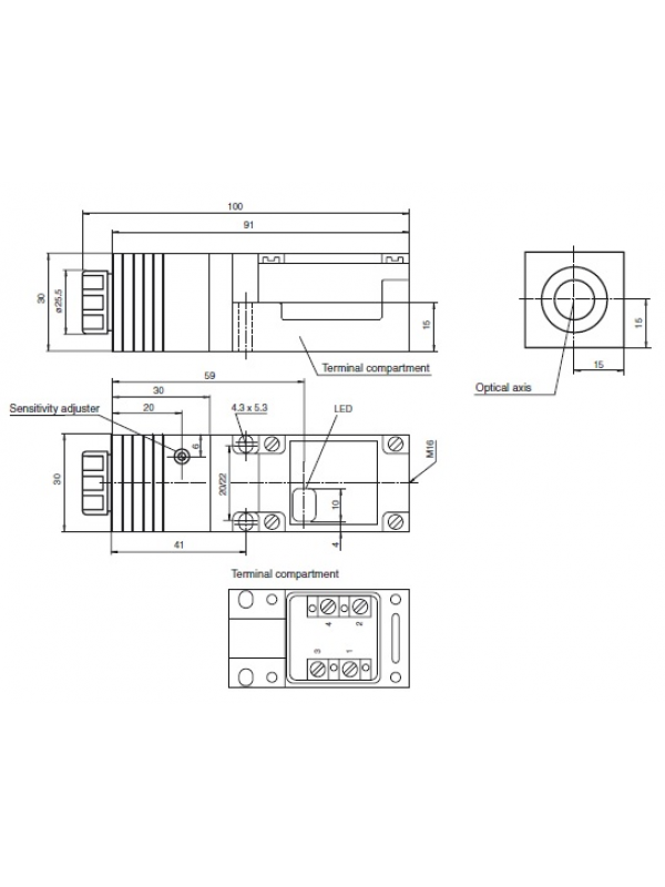 OJ500-M1K-E23 C/ FIBRA ÓPTICA LCR