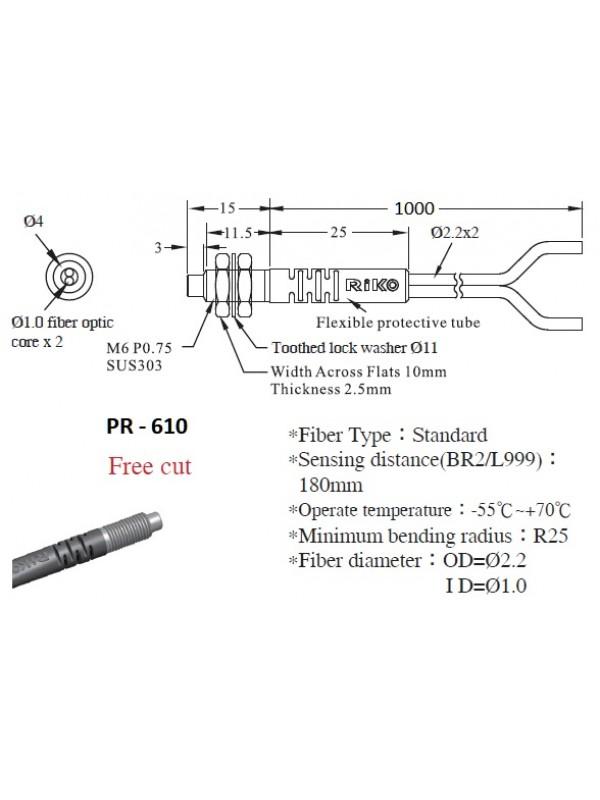 Fibra óptica PR-610