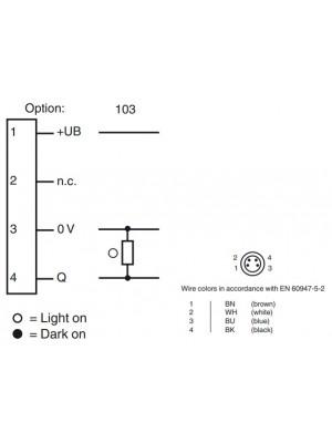 Sensor fotoelétrico difuso ML8-8-HGU-50-RT/103/143/162