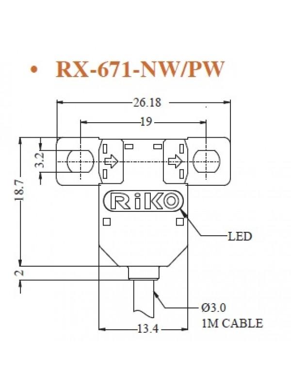 Sensor fotoelétrico, micro U-shape