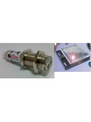 Sensor fotoelétrico tubular reflexivo M18