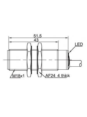 Sensor indutivo alta temperatura LR18-BF05-DPOW-120C