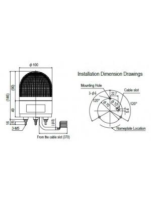 Sinaleiro LED 3 funções KHE-24-U-R-SZ