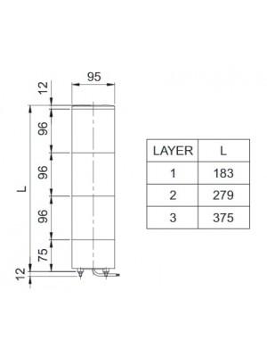 Torre de Sinalização LED cubo SJL-2-DC24V-RG